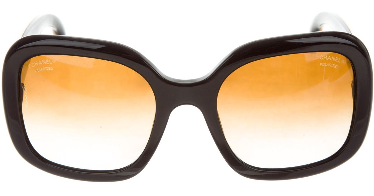 3db4fa427238 Angel Source · Lyst Chanel Galuchat Stingray Cc Sunglasses Black in Metallic