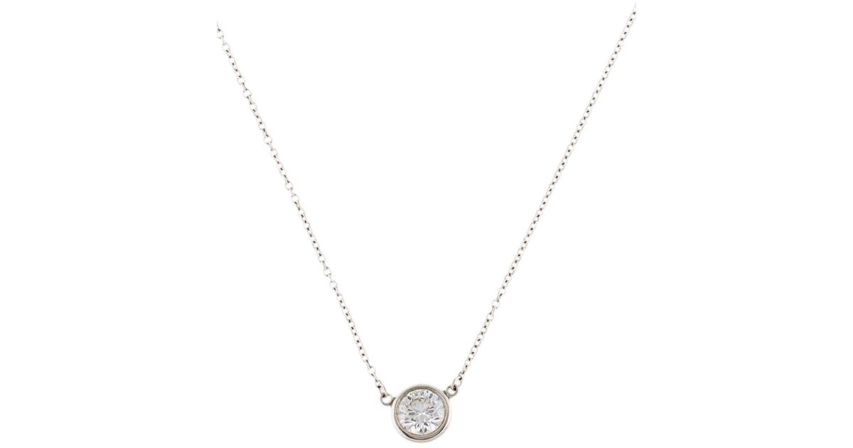 Lyst tiffany co diamonds by the yard pendant in metallic aloadofball Gallery