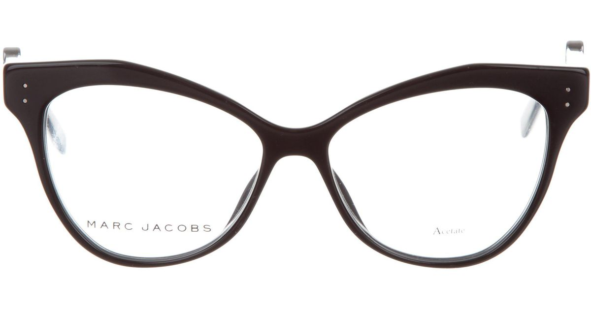 f2c790313f56 Lyst - Marc Jacobs Acetate Round Eyeglasses Black in Metallic