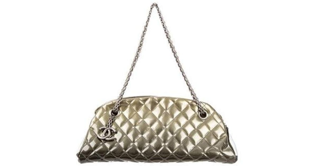 d5e02ec81987 Lyst - Chanel Just Mademoiselle Bowler Bag in Green