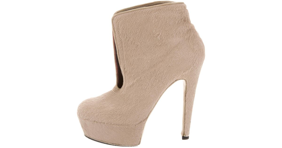 Halston Platform Ponyhair Boots low price fee shipping online cheap sale with paypal sale under $60 sale factory outlet 7MHZPI