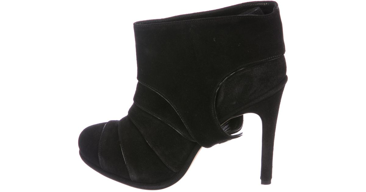 Lyst - Neil Barrett Suede Ankle Boots in Black