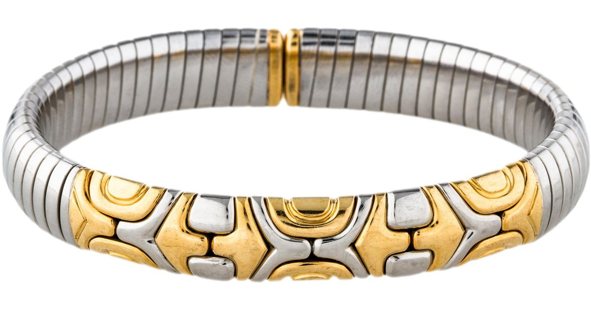 d7e2513b96626 ... where to buy lyst bvlgari parentesi cuff bracelet yellow in metallic  19461 bd019 ...