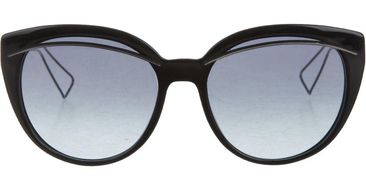 448a4f0a0dec Lyst - Dior Liner Cat-eye Sunglasses Black in Metallic