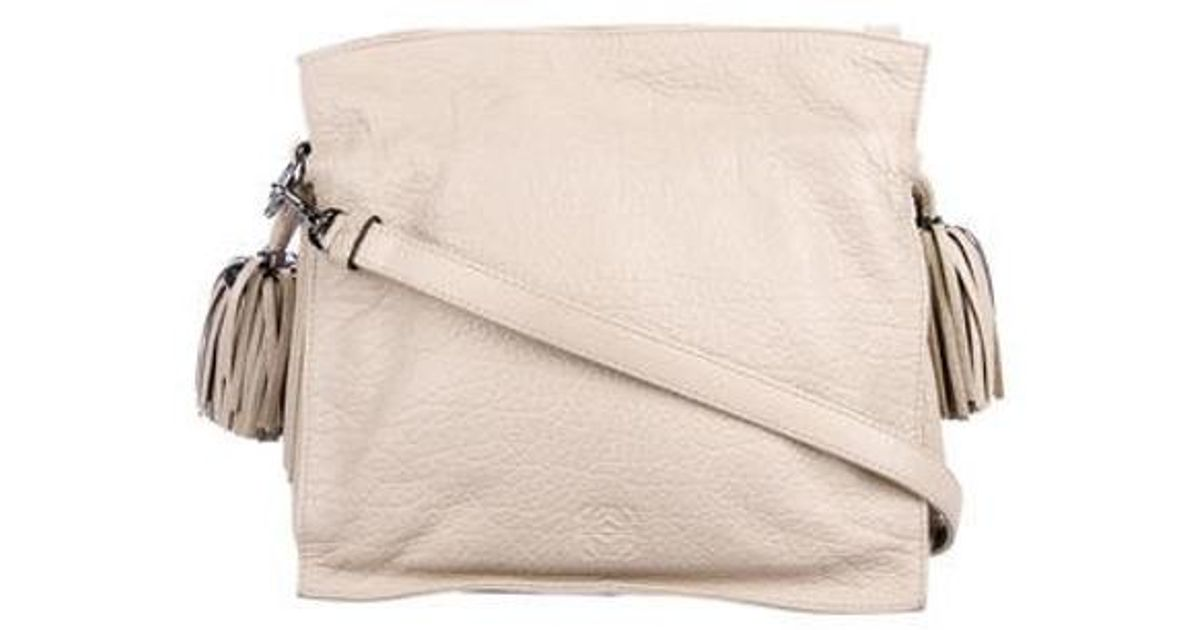 938b3cef23ec Lyst - Loewe Flamenco Leather Crossbody Bag Neutrals in Natural