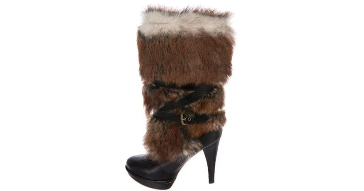 595dbe98c38 Ugg - Metallic Foxley Shearling Boots Black - Lyst