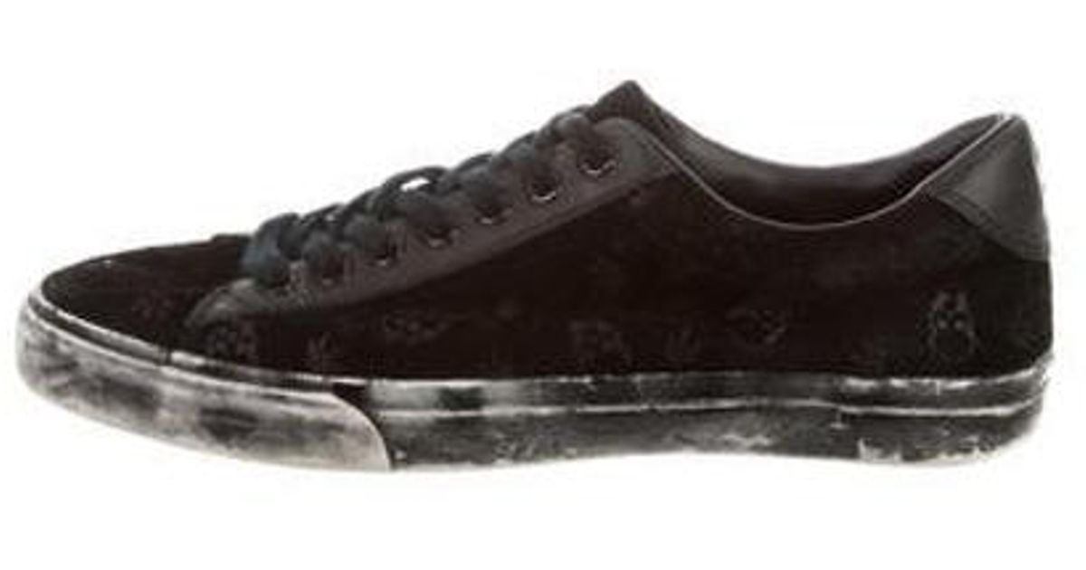 8b3656fbfed8 Lyst - Lucien Pellat Finet Distressed Skull Sneakers in Black for Men