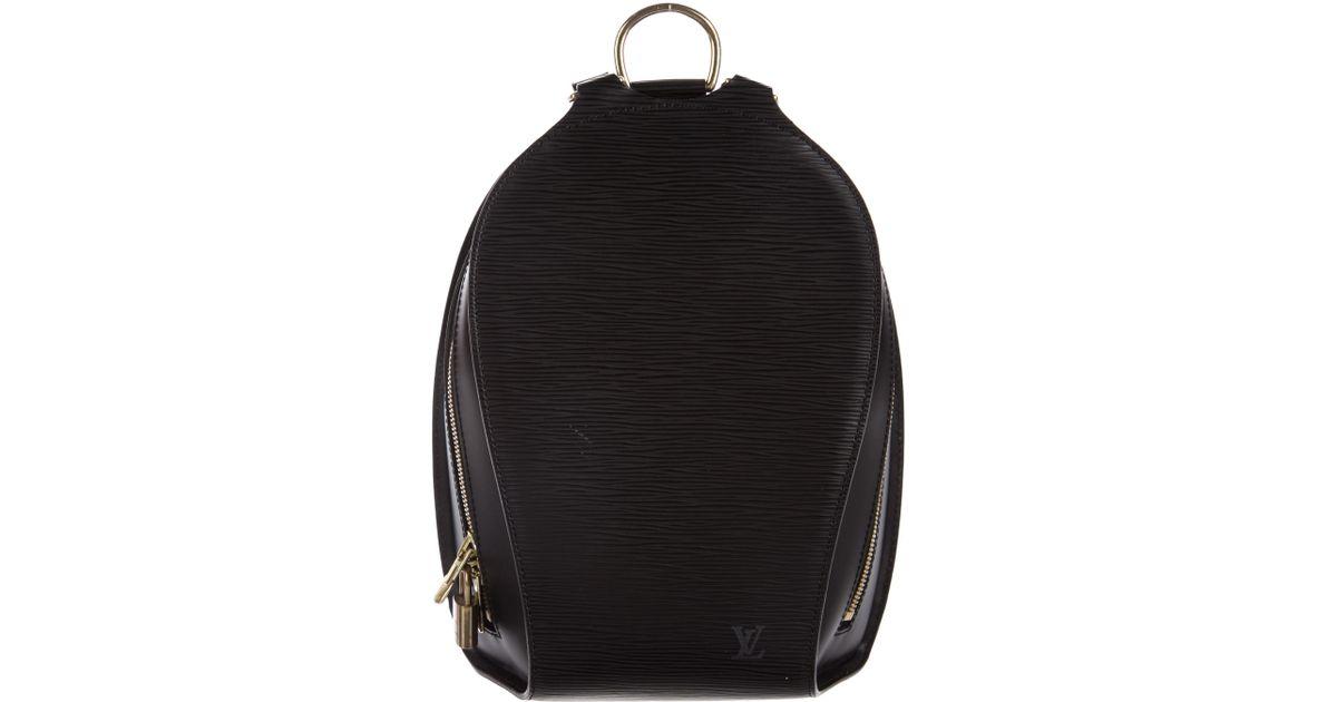 4f6b833b2730 Lyst - Louis Vuitton Epi Mabillon Backpack in Black