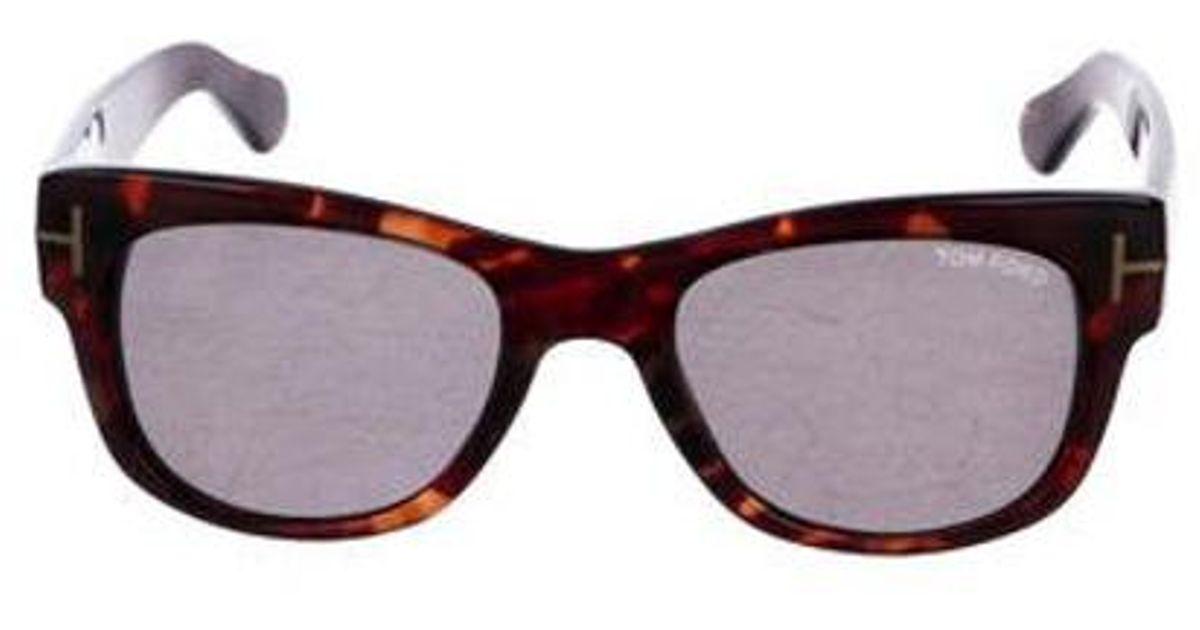 a0c88d32183 Lyst - Tom Ford Cary Wayfarer Sunglasses Brown in Metallic