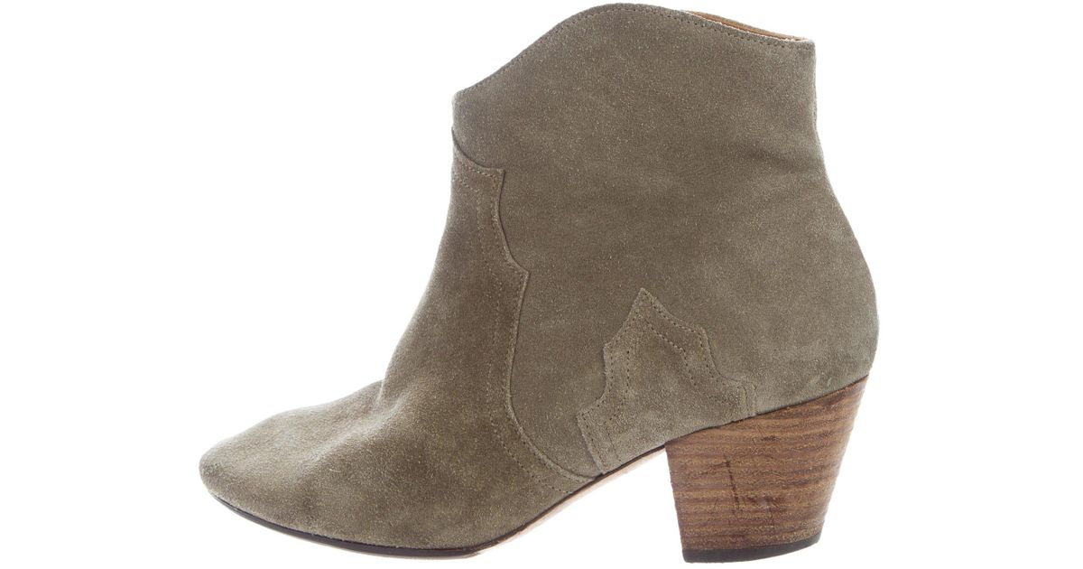 a34fd8d3ed3 Lyst - Isabel Marant Suede Dicker Ankle Boots Olive in Green
