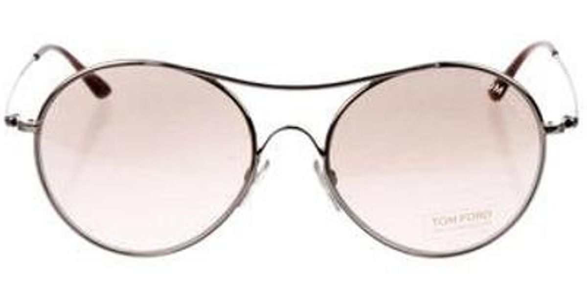 fa738ca03982 Lyst - Tom Ford Claude Tinted Sunglasses Gold in Metallic