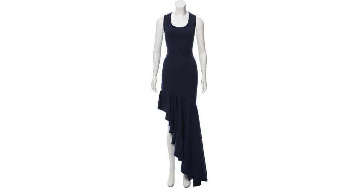 c36b4bafd56 Lyst - Michael Lo Sordo Legion Sleeveless Maxi Dress Navy in Blue