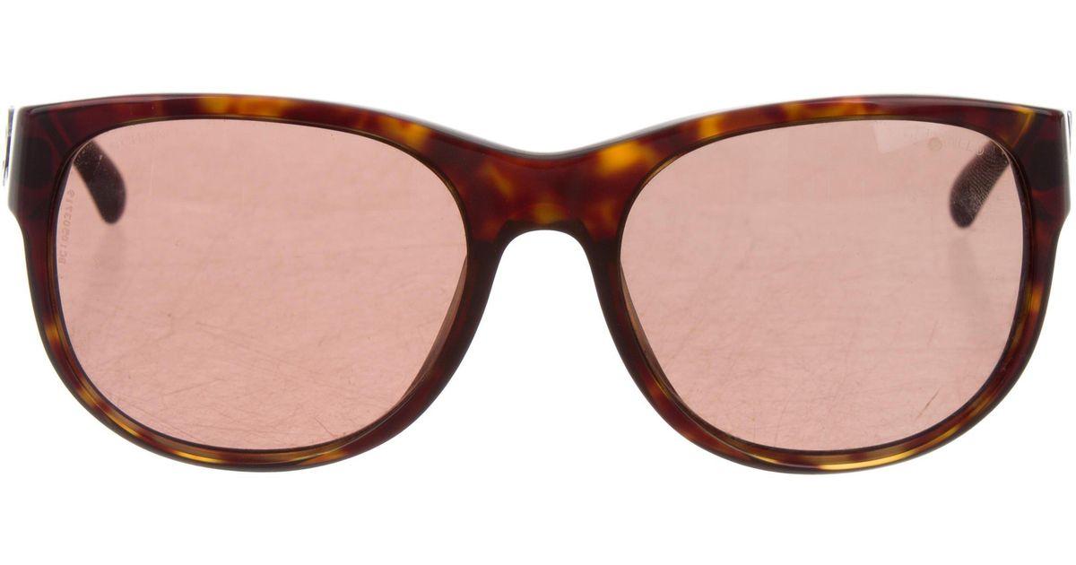 e07ab521812 Lyst - Chanel Tortoiseshell Cc Sunglasses in Brown