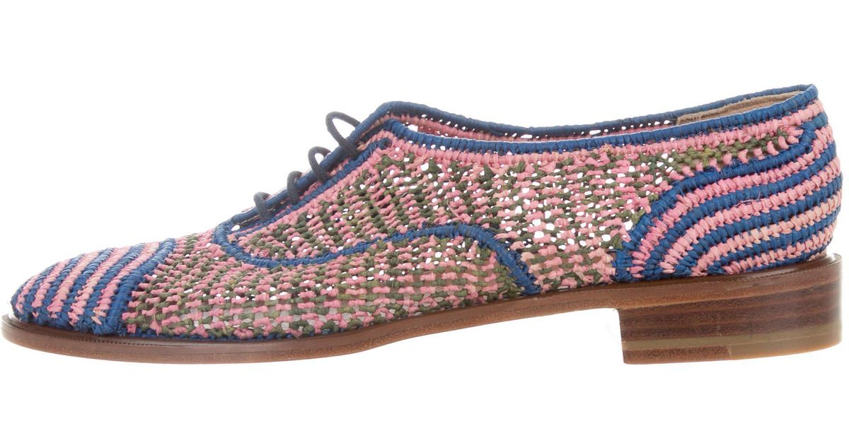 5e2dd2487ad Lyst - Robert Clergerie Lace-up Round-toe Oxfords in Pink
