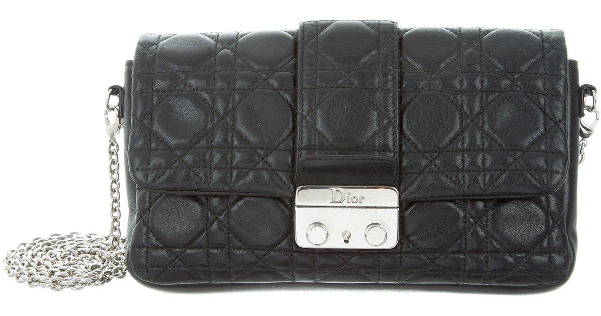 0204125ad4c5 Lyst - Dior Cannage New Lock Pouch Black in Metallic