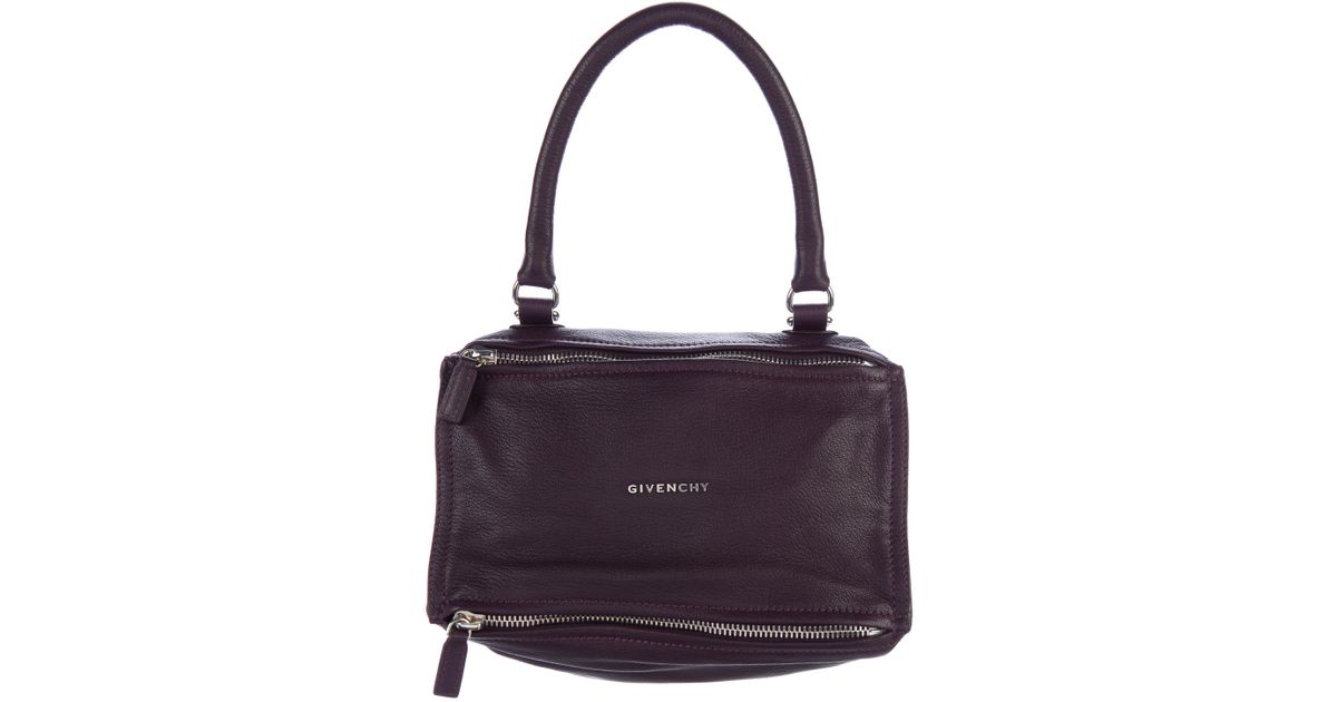 52f552bb53 Lyst - Givenchy Pandora Mini Crossbody Bag Aubergine in Metallic