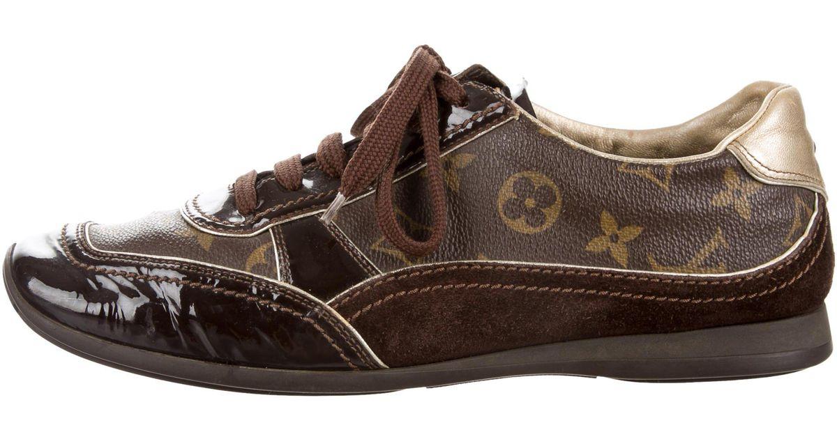 13e1c8d9ff1 Louis Vuitton - Metallic Monogrammed Low-top Sneakers Brown for Men - Lyst