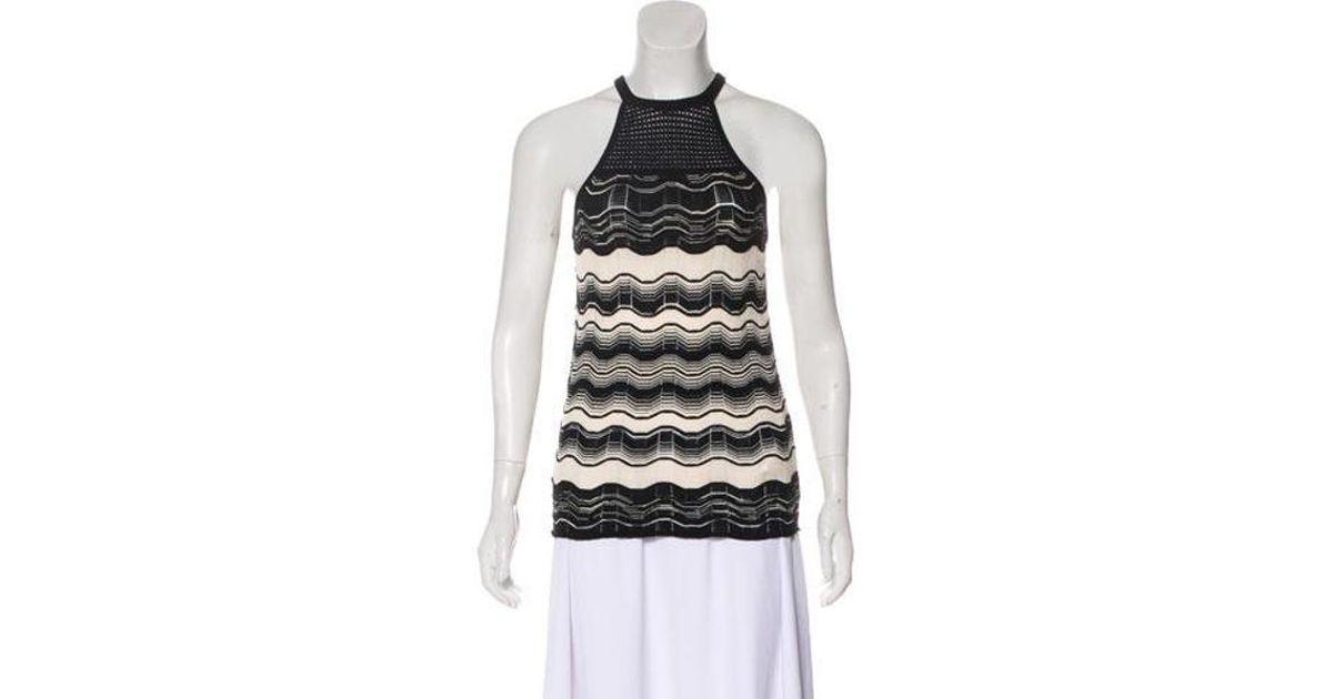 Lyst - M Missoni Knit Halter Top in Black