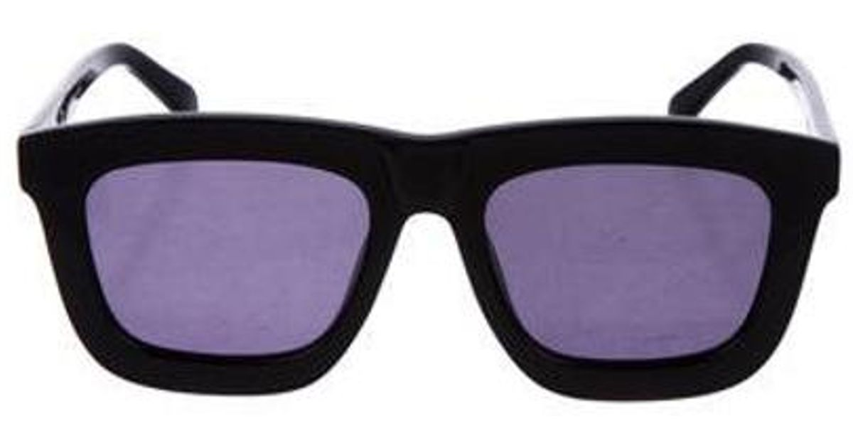 945da8fc69a8 Lyst - Karen Walker Deep Worship Tinted Sunglasses in Black