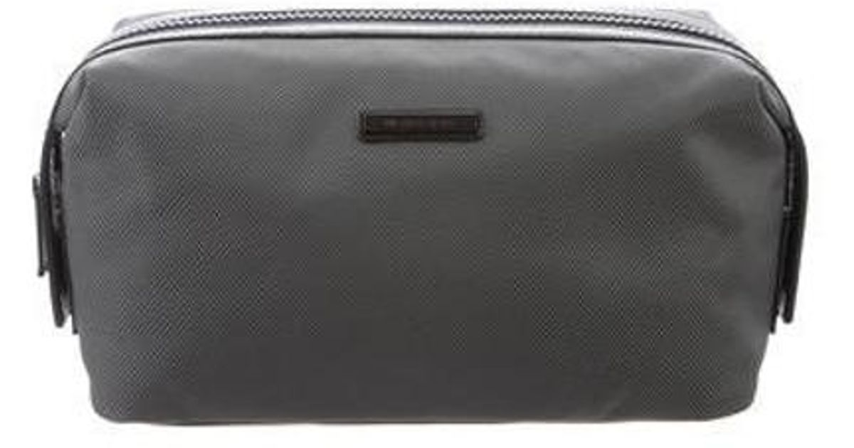 08acbf7db6c72 Lyst - Michael Kors Leather-trimmed Nylon Toiletry Bag Grey in Gray for Men