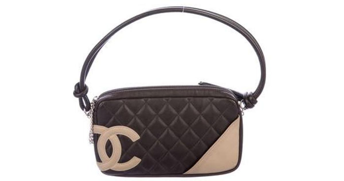 86d0a178fa5b Lyst - Chanel Ligne Cambon Pochette Brown in Metallic
