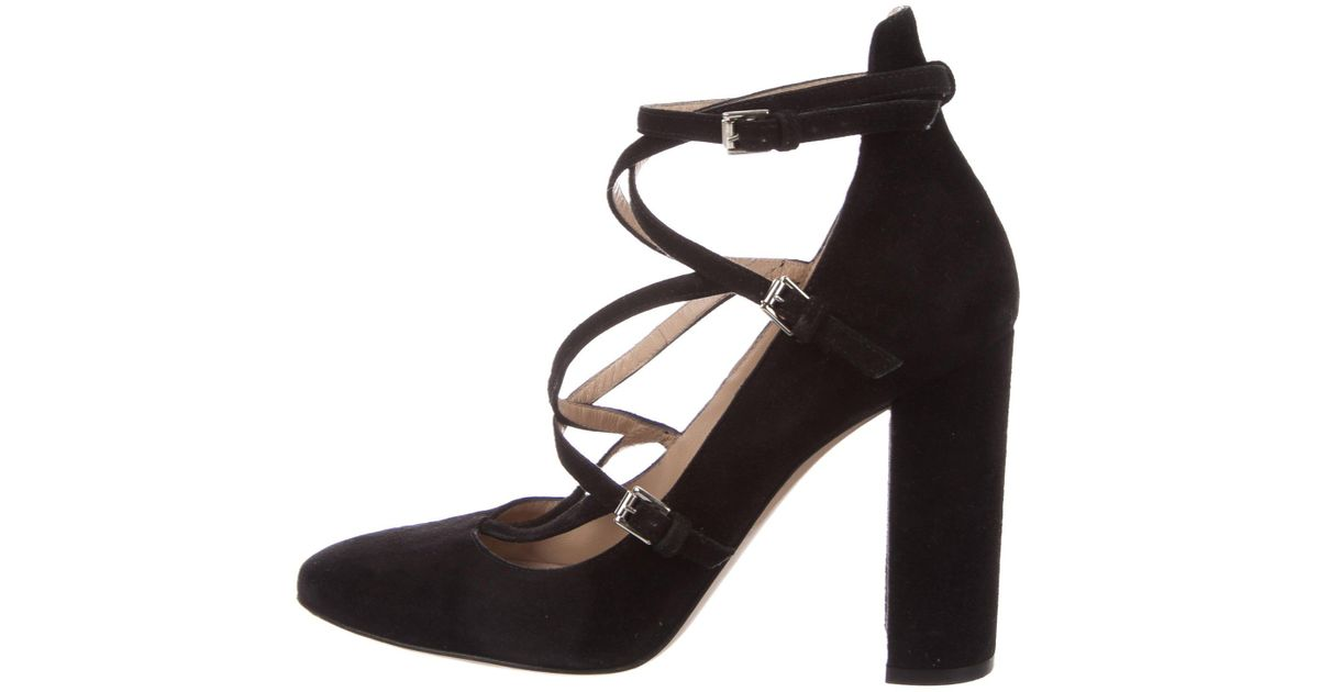 Gianvito Rossi Multistrap Suede Pumps perfect cheap online x92udTex