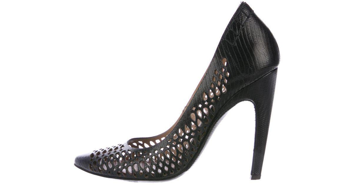 cheap clearance store Proenza Schouler Leather Laser-Cut Pumps fashion Style cheap price VJQLRlYT