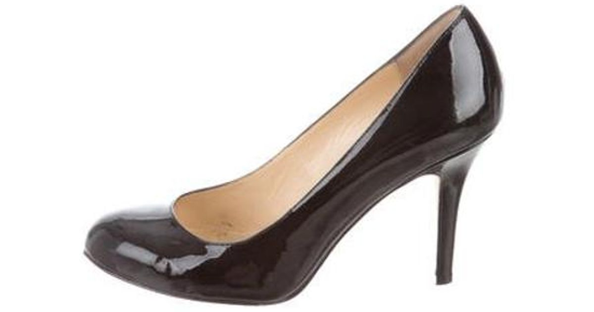 c95dc797f489 Lyst - Kate Spade Patent Leather Round-toe Pumps in Black