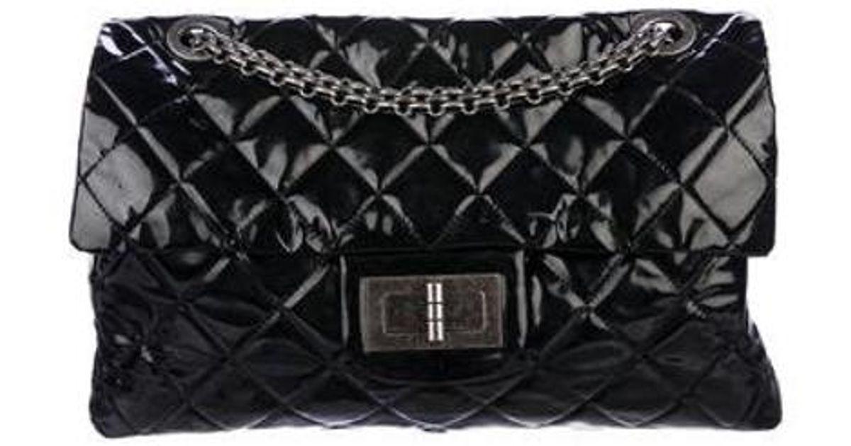 5bfd1229efd1a1 Lyst - Chanel Xl Reissue Flap Bag Black in Metallic