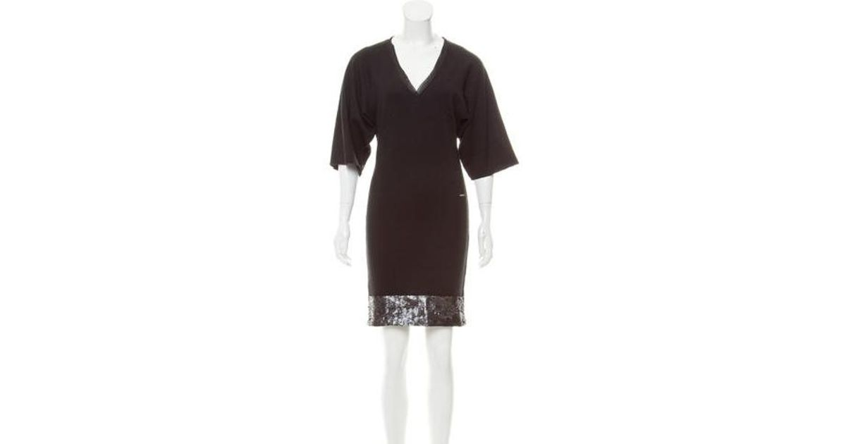 e7c1b15f7ea Lyst - Costume National Embellished Knit Dress W/ Tags in Black