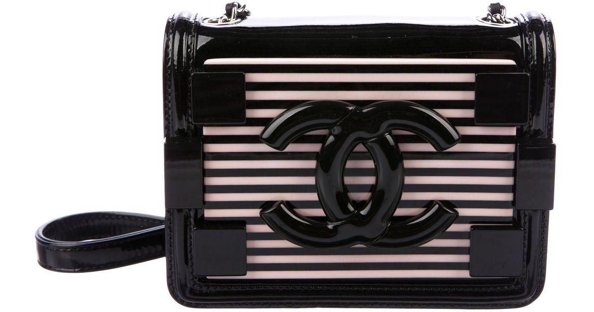 a732227bd7 Lyst - Chanel Boy Brick Flap Bag Black in Metallic