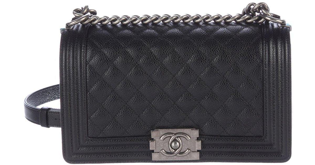 2423a032eef90a Lyst Chanel 2016 Medium Quilted Boy Bag In Black