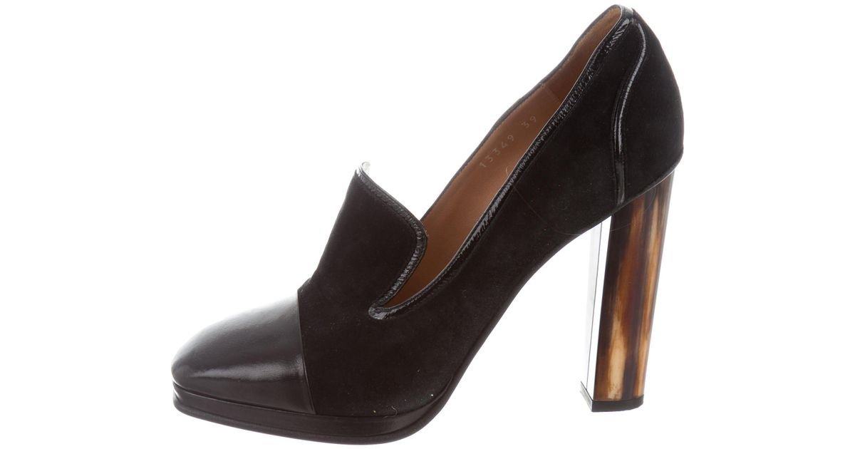 Dries Van Noten Leather Cap-Toe Pumps footlocker pictures online sneakernews cheap price buy cheap 2015 new fast delivery cheap online QXDVAD