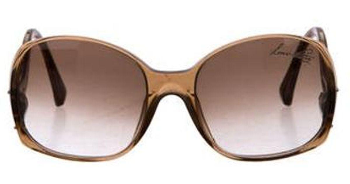 665ac9f7624a Lyst - Louis Vuitton Gina Glitter Sunglasses Brown in Metallic