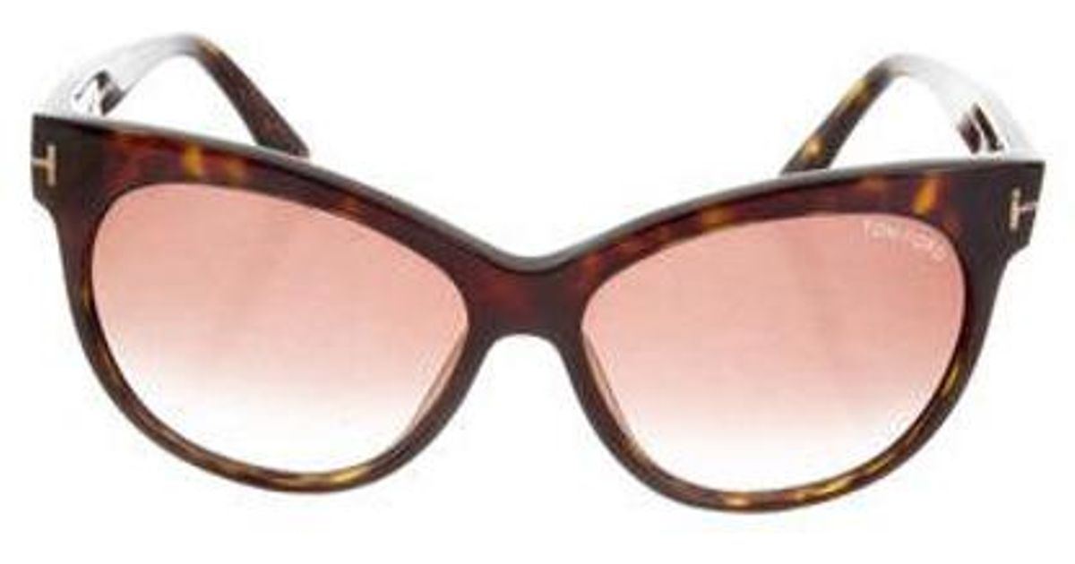 880672a4723 Lyst - Tom Ford Saskia Gradient Sunglasses Brown in Metallic