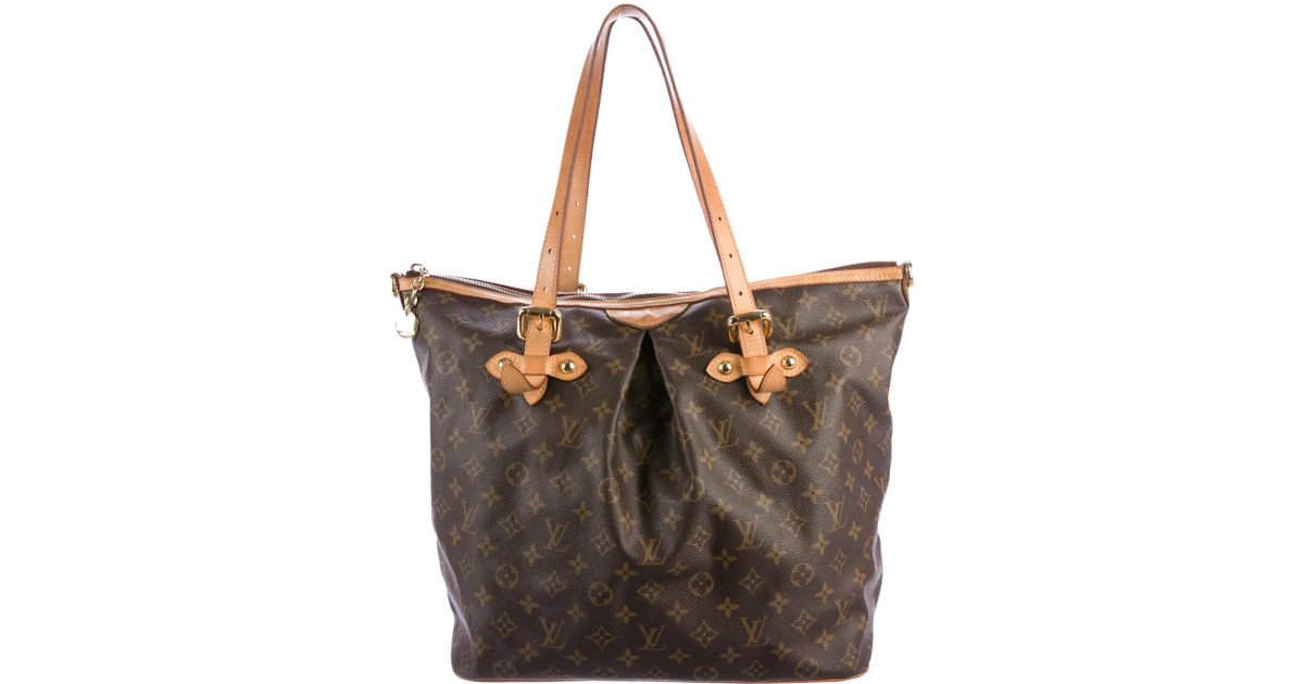 1ac86aa66e Lyst - Louis Vuitton Monogram Palermo Gm Brown in Natural