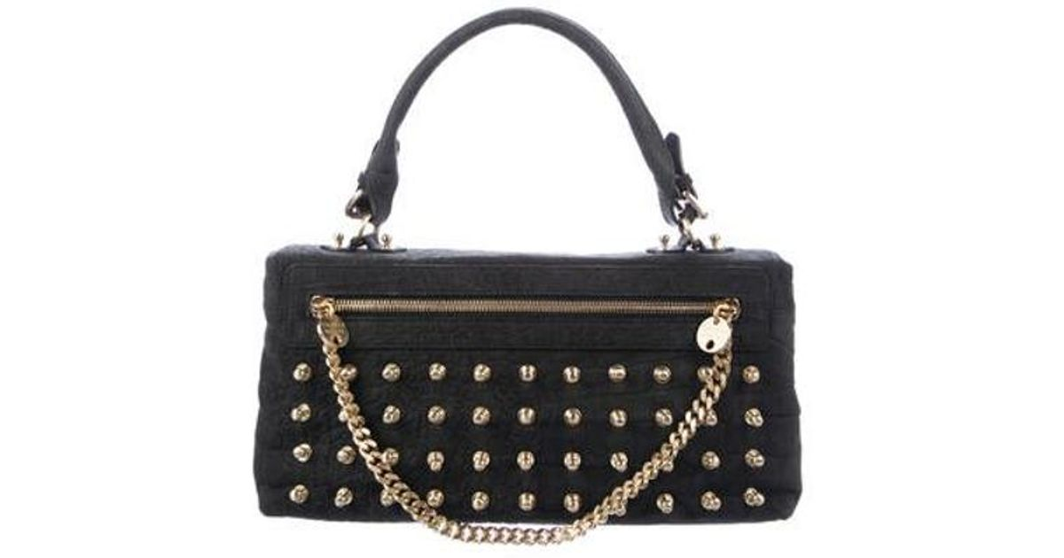 53b8edcfa477 Lyst - Thomas Wylde Embellished Lambskin Bag Black in Metallic