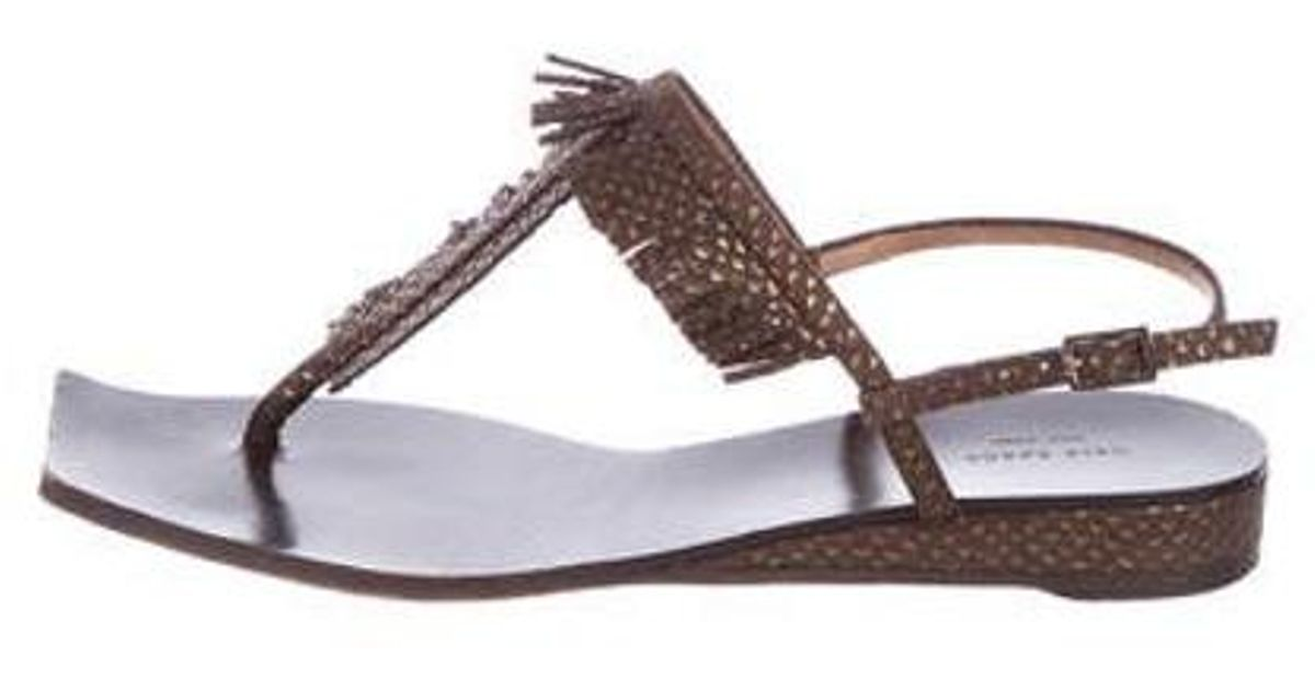 90bf6249d02d Lyst - Kate Spade Slingback Thong Sandals in Brown