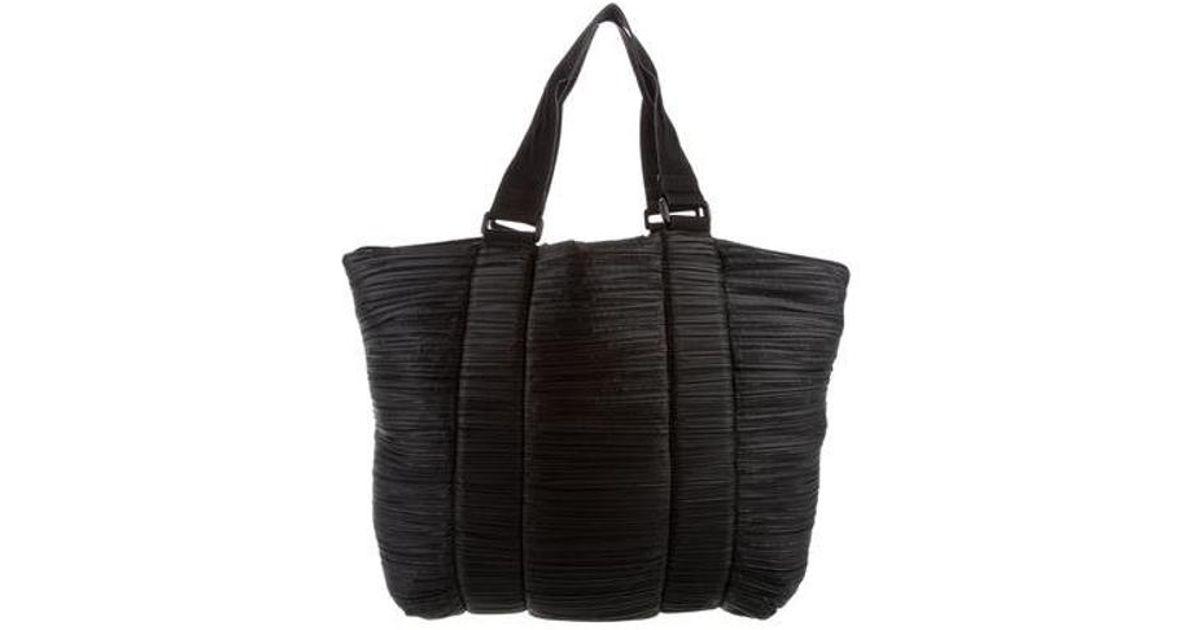 Lyst - Pleats Please Issey Miyake Pleated Shoulder Bag in Black 55b834bf58