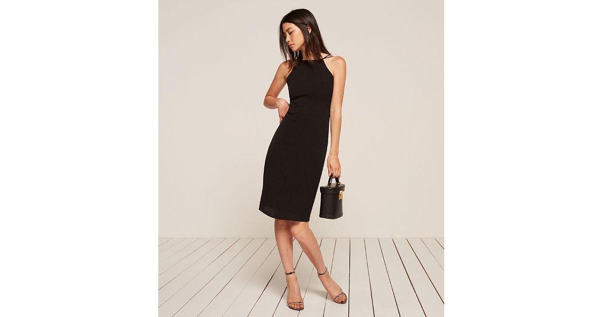 e14245c7e08 Reformation Sanibel Dress in Black - Lyst