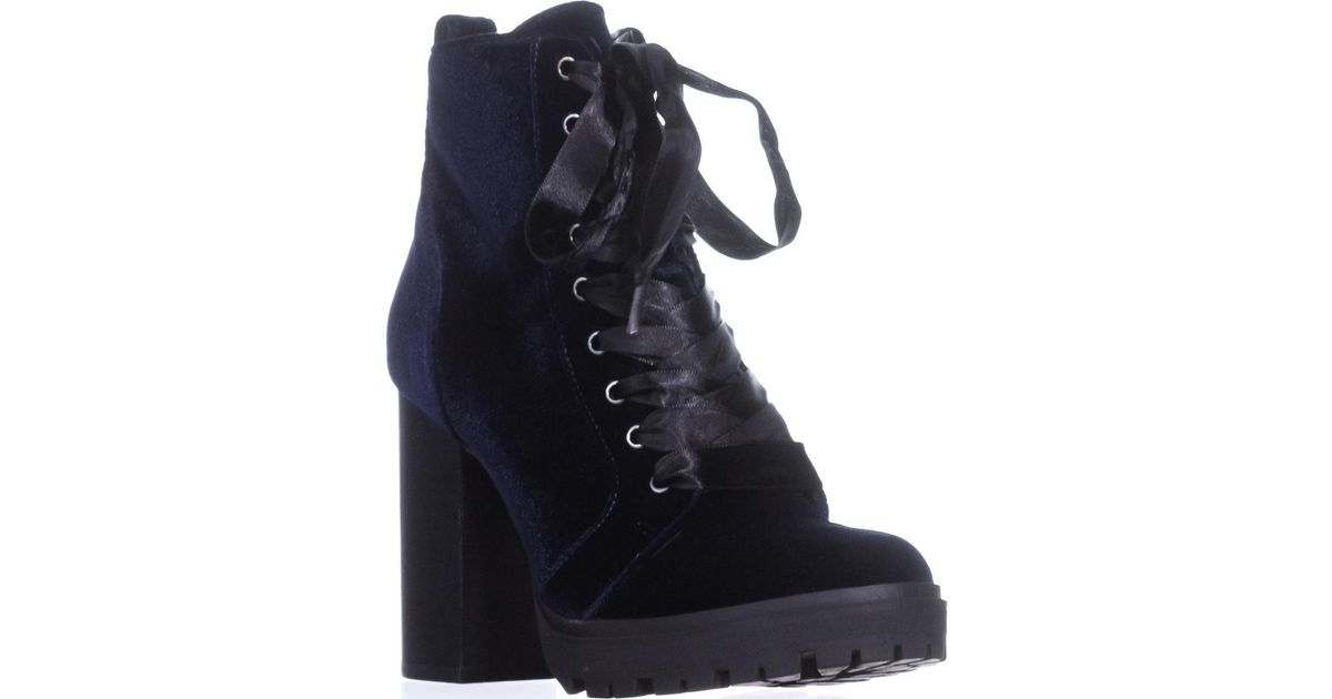 1c49f1a39dd Lyst - Steve Madden Laurie Combat Boot in Blue
