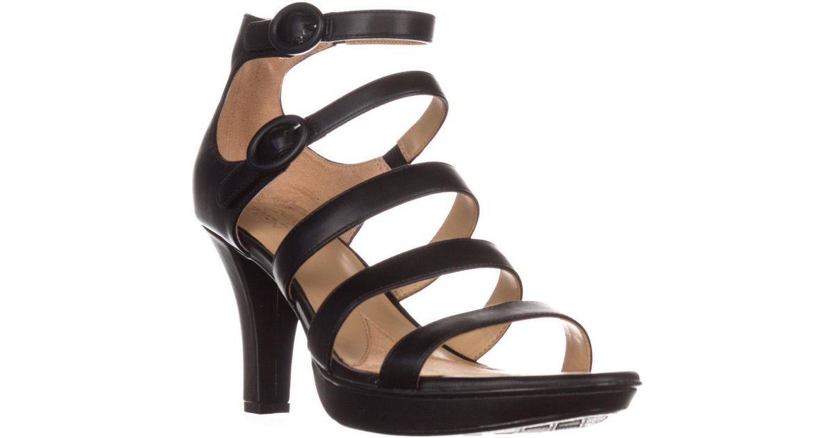 9dea7a609b3b Lyst - Naturalizer Dessie Strappy Platform Sandals in Black