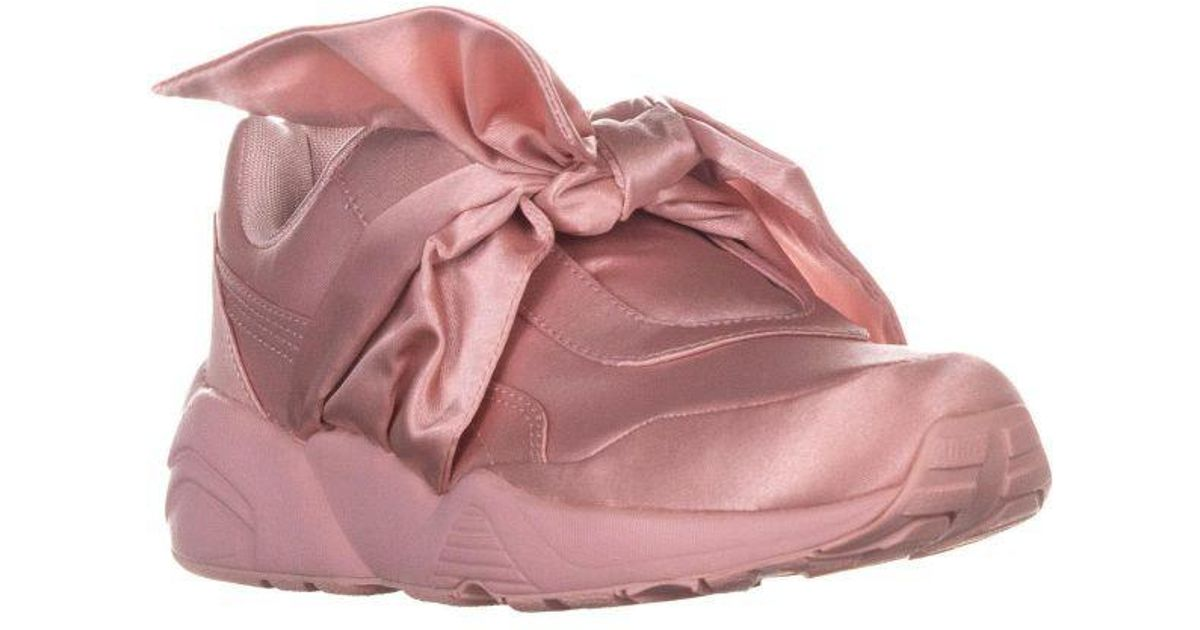 check out a645b d4567 PUMA - Pink Bow Sneaker Fenty Rihanna Fashion Sneakers - Lyst