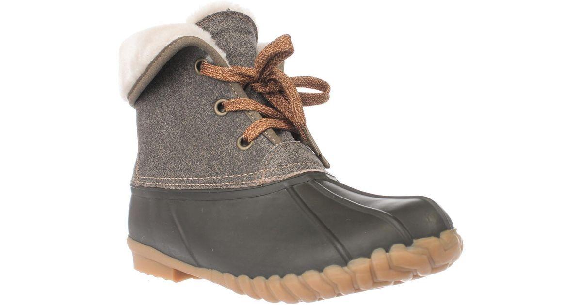 86d773ee2ec Lyst - Sporto Diana Faux Fur Lined Short Rain Boots