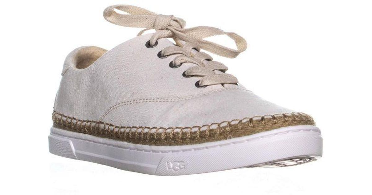 24dec4be944 Ugg - White Eyan Ii Lace Up Espadrilles Sneakers - Lyst