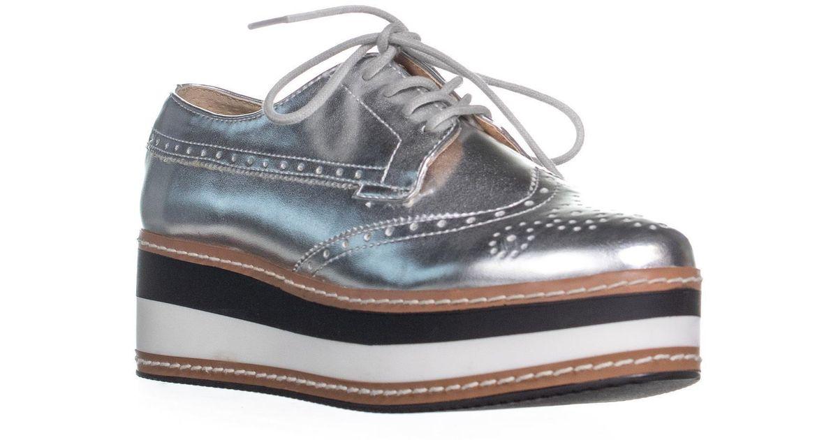60cd2afe166 Lyst - Steve Madden Greco Lace Up Platform Sneakers