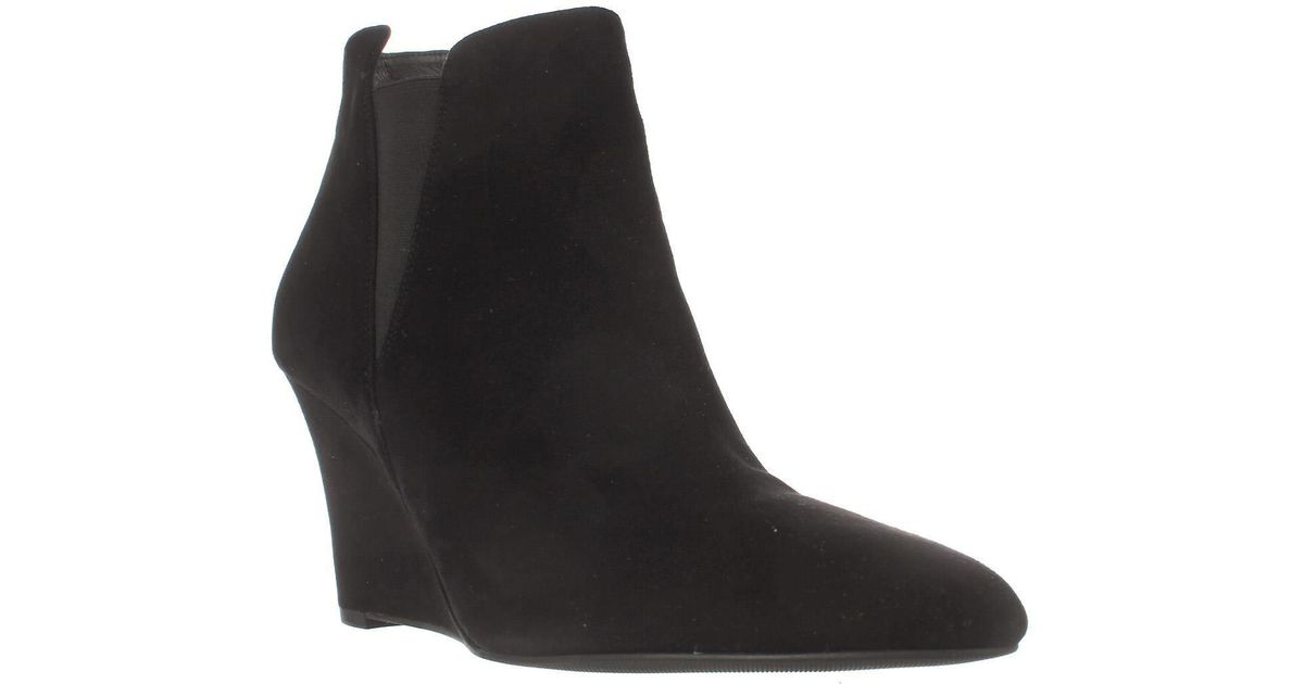 b58d773d1af Lyst - Via Spiga Kenzie Wedge Ankle Booties in Black