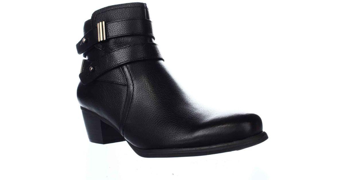 3d8baaf57ca Naturalizer - Black Kepler Block Heel Ankle Boots - Lyst