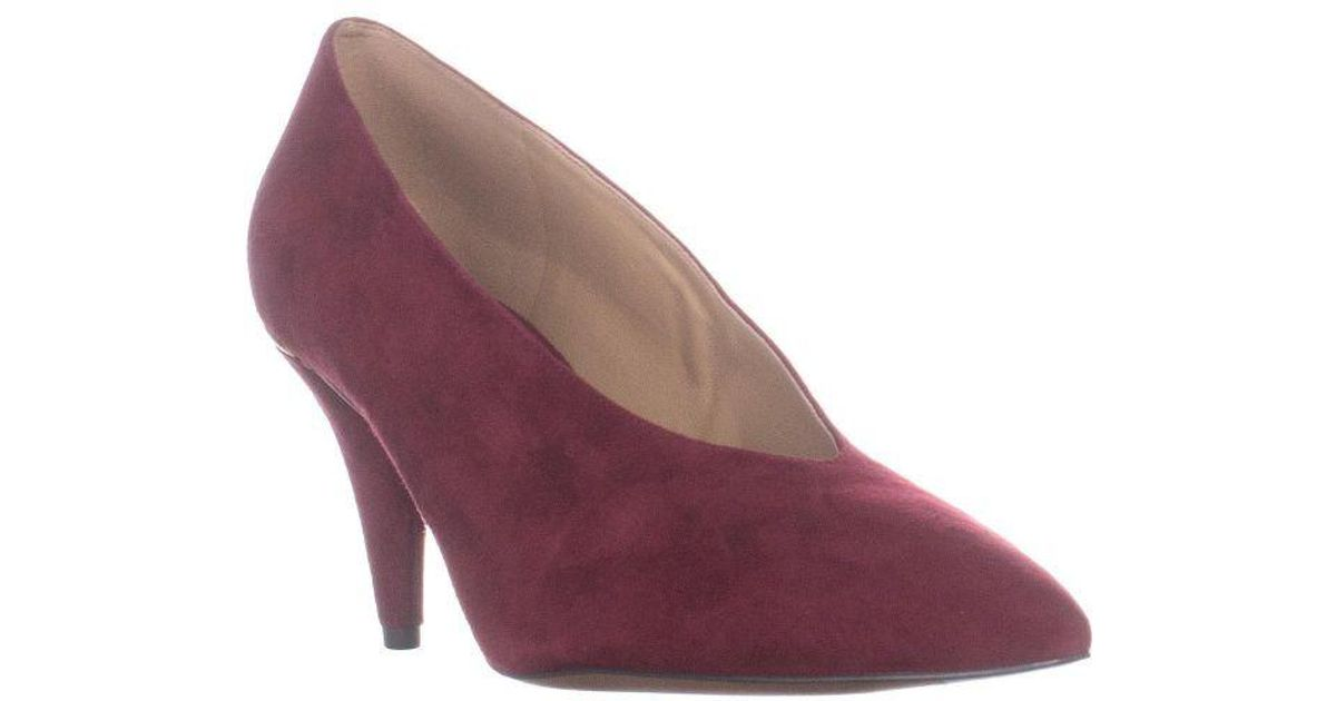 aadadb20fb05 Michael Kors Michael Lizzy Mid Pump Classic Dress Heels in Purple - Lyst