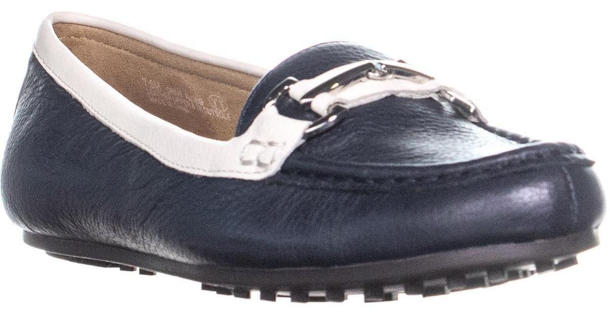 2e79b08fa09 Lyst - Aerosoles Drive Along Flat Loafers in Blue